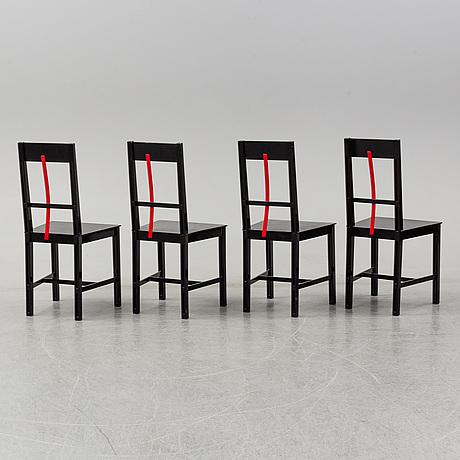 BjÖrn alge, four 'frame' chairs, 1980's.