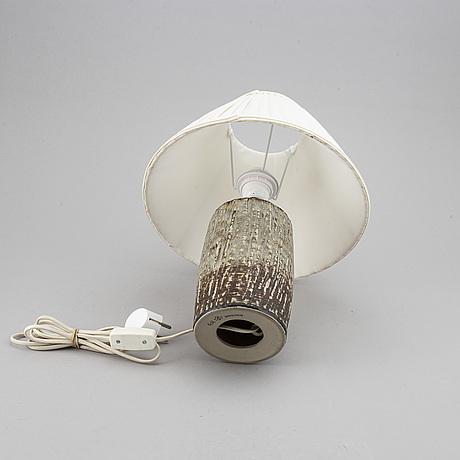 Gunnar nylund, a 'rubus' stoneware table lamp, rörstrand.