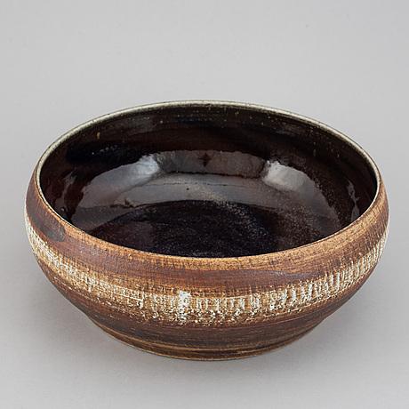 Bertil lundgren, an unique stoneware serving bowl, rörstrand, signed and numbered 3/50.