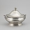 A late gustavian pewter tureen by c g malmborg.