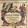 Hugo allardt - map, halland sweden, hand colored engraving, 17th / 18th century.