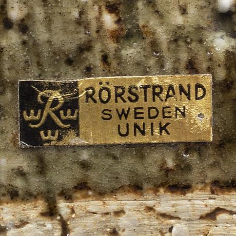 Carl-harry stÅlhane, unik, stor skål, rörstrand, 1963 (?).