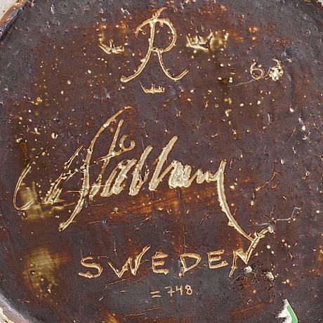 Carl-harry stÅlhane, a large stoneware bowl, rörstrand 1963(?).