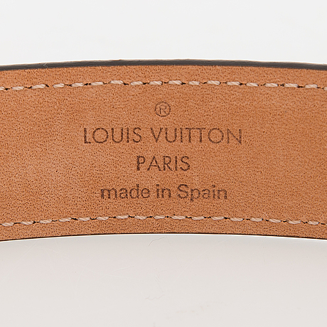 "Louis vuitton, ""mini monogram 25"", belt, size 80/32."