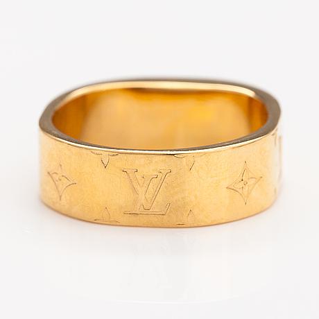 "Louis vuitton, a ""nanogram"" ring. marked italy."