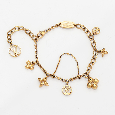 "Louis vuitton, ""blooming supple"" bracelet. marked louis vuitton paris, made in italy."