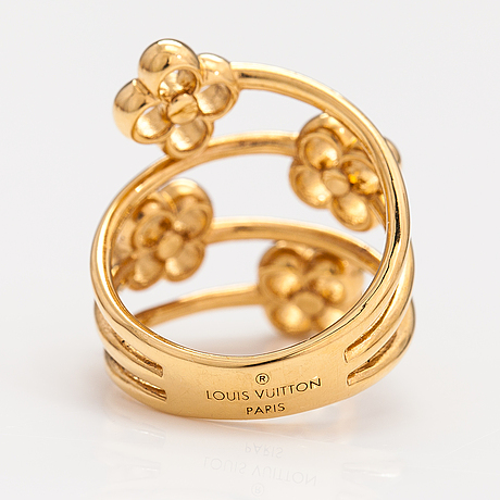 "Louis vuitton, a ""flower full"" ring. marked louis vuitton paris."