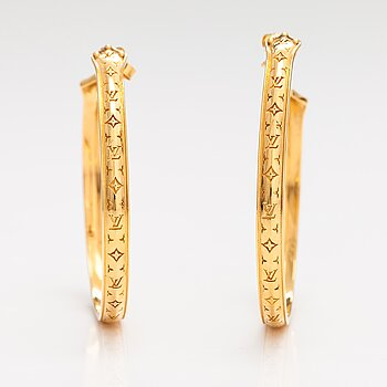 """Louis Vuitton, A pair of """"Nanogram sweet dreams"""" earrings. Marked Italy."""
