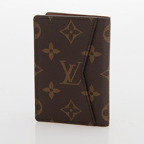 Louis vuitton, monogram canvas 'mini pochette' and cardholder.