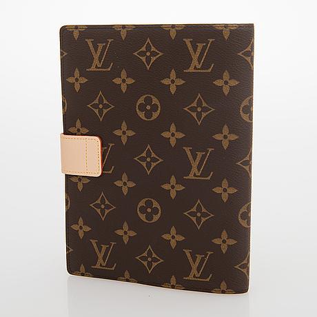 Louis vuitton, a monogram canvas notebook cover 'paul'.