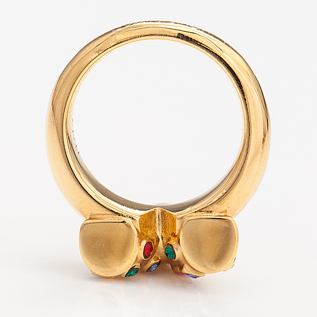 """Louis vuitton, an """"essential v planète"""" ring. marked italy."""