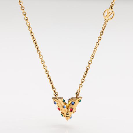 "Louis vuitton, an ""essential v planète"" necklace. marked louis vuitton paris, made in italy."