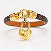 "Louis vuitton, ""crazy in lock"" bracelet. marked louis vuitton, made in spain."