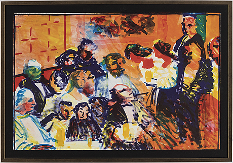 Peter dahl, a lithograph in colours, signed and numbered 215/290.