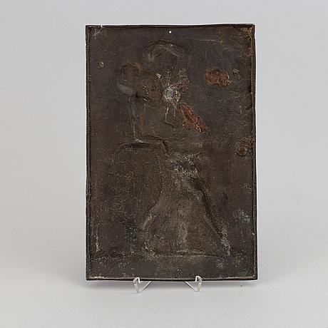 Three bronze plaquettes. height 30 cm, length 20 cm each.