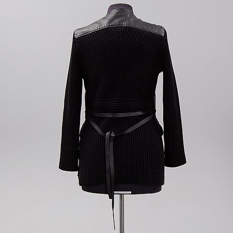 Valentino, leather jacket, size 10.