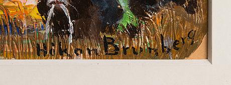 HÅkan brunberg, olja på papper/palett, signerad.