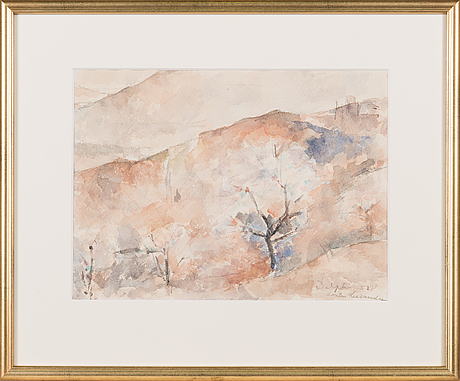 Anitra lucander, watercolour, signed and dated -57.