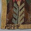 "MÄrta mÅÅs-fjetterstrÖm, a textile, ""täppan"", tapestry weave, ca 57,5-59 x 63-63,5 cm, signed ab mmf."