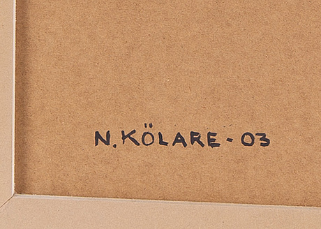 Nils kölare, oil on panel, signed and dated -03.