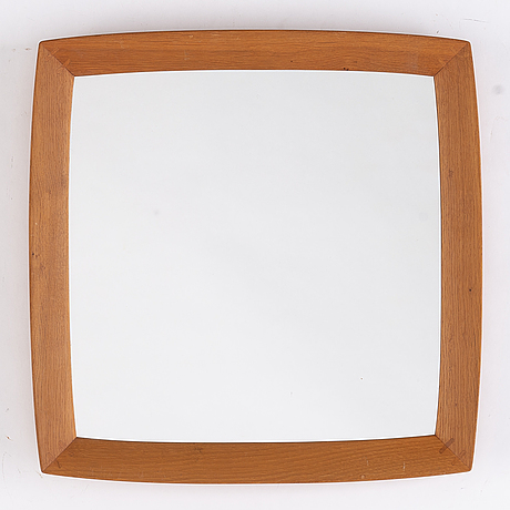 Uno & östen kristiansson, an oak mirror, luxus, vittsjö, 1960's.