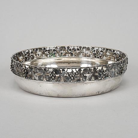 A silver bowl, goretta, alessandria, italy.
