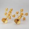 A pair of six light chandelabras, gilt brass, late 19th century/circa 1900.