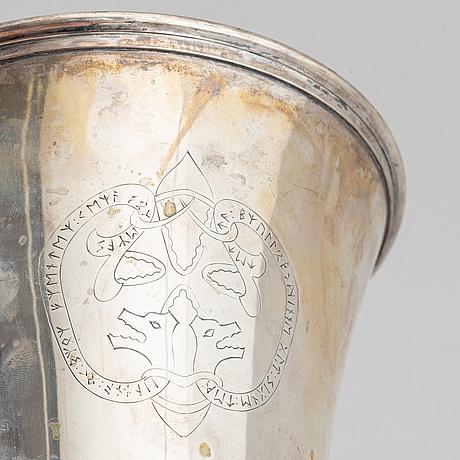 A swedish silver beaker, mark of gab, stockholm 1919.