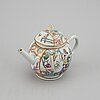 A famille rose teapot with cover, qing dynasty, qianlong (1736-95).