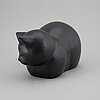 Lisa larson, a k-studion stoneware figurine, gustavsberg, signed.