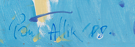 Paul allik, oil on canvas, signed and dated -88.