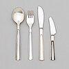 Holger rasmussen, a 24-piece silver cutlery set 'margit', finnish hallmarks, 1960s.