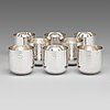 Tapio wirkkala, an 8-piece set of silver beakers, marked tw, kultakeskus oy, hämeenlinna, finland 2002 and 2009.