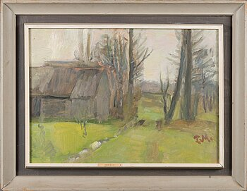 PEETER MUDIST, oil on board, signed, a ergo dated -82.