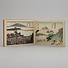 Two books with japanese prints,