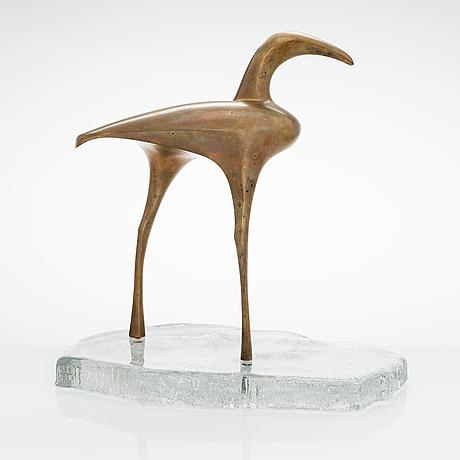 """Tapio wirkkala, skulptur, stämplad """"tapio wirkkala finland 4/20"""". kultakeskus, 1975."""