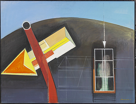 Olle svanlund, a signed and dated oil on canvas.