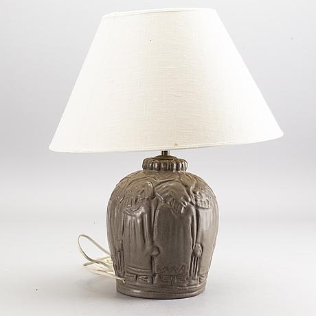 Bordslampa, stengods, Åke holm.
