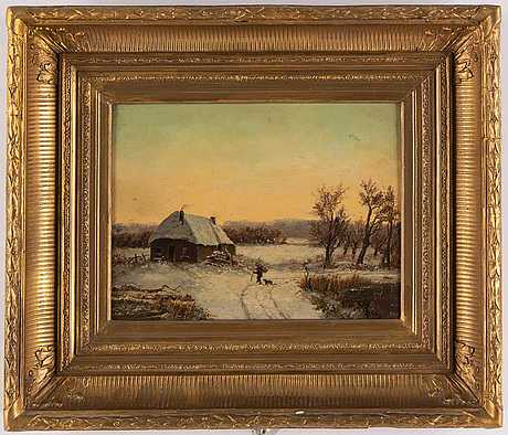 Unknown artist, 19th century, oil on panel, signed.