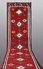 A runner, kilim  kashgai, ca 587 x 173 cm.