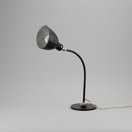 Christian dell, a model 2608 'polo-populär' table light, bünte & remmler, 1930's/40's.