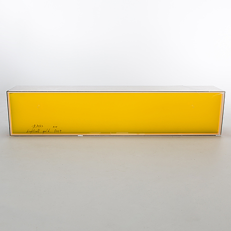 Hans christian berg, sculpture, acrylic, collins straws, signed and dated 2004.