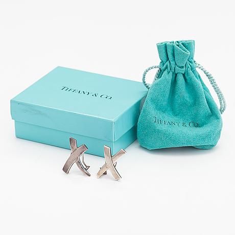 """Tiffany & co, korvakorupari """"x kiss"""", sterlinghopeaa. merkitty paloma picasso, tiffany & co."""