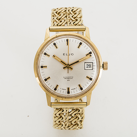 Eljo, wristwatch, 34 mm.