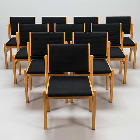 A set of 10 chairs from 1970/80's.