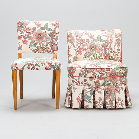 Late 1940s chair and easy-chair, stockmann oy ab, finland.