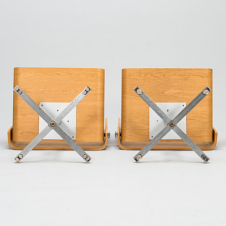 Toivo korhonen and esko pajamies, a pair of 1960s easy chairs, model tu-641, 'bonzo', for merva, finland.