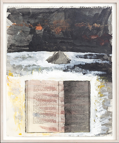 Jan hÅfstrÖm, a signed and dated mixed media.