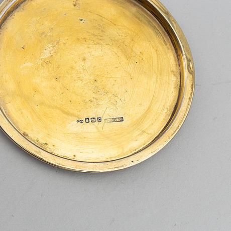 Asprey & co ltd, a gilt silver box, london 1917 and with swedish import marks.