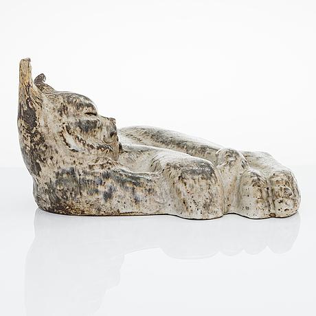 Michael schilkin, a stoneware sculpture signed m. schilkin arabia.